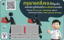 Thailand BTS Card  Ticket  Comic People - Eisenbahnen