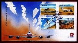 NAMIBIA, 2001, Mint F.D.C. Civil Aviation, MI Nr. 3-30, F3656 - Namibië (1990- ...)