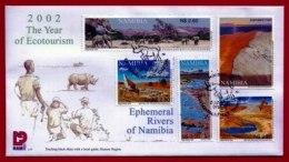 NAMIBIA, 2002, Mint F.D.C. Ephemeral Rivers, MI Nr. 3-34, F3659 - Namibia (1990- ...)