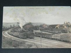 CHAGNY    1910  /  LA GARE COTE VOIES AVEC TRAIN A VAPEUR   / CIRC OUI  EDITEUR - Chagny