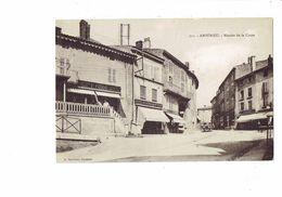 Cpa - 01 - AMBERIEU - Montée De La Croze - N°711 Gauthier - Avernet Chapellerie - Lingerie VOIDE F. - France