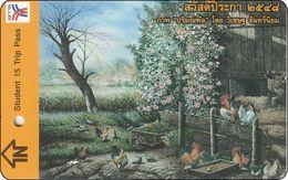Thailand BTS Card  Ticket  Huhn Chicken - Eisenbahnen