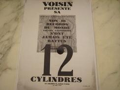 ANCIENNE PUBLICITE VOITURE VOISIN 12 CYLINDRE - Voitures