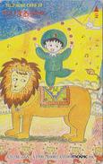 Télécarte Japon / 110-011 - MANGA - CHIBI MARUKO CHAN / LION LAPIN - ANIME Japan Phonecard - BD COMICS TK - Movic - 8815 - BD