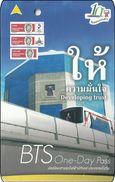 Thailand BTS Card Eisenbahn Train Ticket One Day Pass - Developing Trust - Eisenbahnen