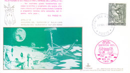 VATICANE CITY 1969 SPECIAL COVER WITH SPECIAL CANCELLATION - MOON LANDING / MEN ON MOON / APPOLO XII - Covers & Documents