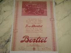 ANCIENNE PUBLICITE VOITURE BERLIET 7 CV 1926 - Cars