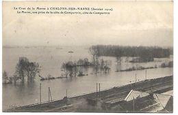 CHALONS SUR MARNE - La Crue De La Marne Janvier 1910 - La Marne, Vue Prise De La Côte De Conpertrix - Châlons-sur-Marne