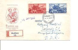 Tchécoslovaquie ( FDC De 1952 Voyagé En Recommandé Vers La DDR à Voir) - FDC