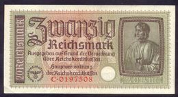 Germany 20 Reichsmark WWII Occupied Territories ND (1940-1945) XF P- R139 - [ 4] 1933-1945 : Third Reich