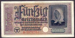 Germany 50 Reichsmark WWII Occupied Territories ND (1940-1945) XF P- R140 - [ 4] 1933-1945 : Third Reich