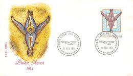 VATICAN - FDC 1974 POSTA AEREA Mi #632 - FDC