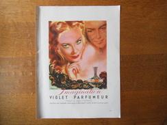 VIOLET PARFUMEUR IMAGINATION 1946 BRENOT - Reclame
