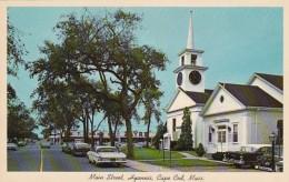 Massachusetts Cape Cod Hyannis Main Street Showing First Baptist Church - Cape Cod
