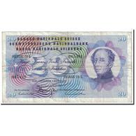 Suisse, 20 Franken, 1970, KM:46r, 1970-01-05, TTB - Switzerland