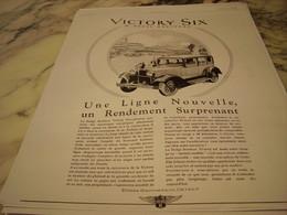 ANCIENNE PUBLICITE VOITURE VICTORY SIX DE DODGE BROTHERS 1928 - Cars