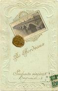 33/CPA A - De Bordeaux - Souhaits Sincères (belle Carte En Relief) - Bordeaux