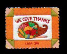 USA, 2001, Scott #3546, Celebrating Thanksgiving, 34c, MNH, VF - Unused Stamps