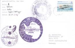 BRITISH ANTARCTIC TERRITORY 1998 COVER - HALLEY, BRITISH ANTARCTIC SURVEY, GERMAN POLAR AIR CREW - British Antarctic Territory  (BAT)