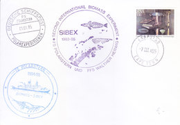 SOUTH AFRICA ANTARCTIC EXPEDITION COVER, 1985 - SPECIAL CANCELLATIONS, VIA GERMAN ANTARCTIC POST OFFICE - Covers & Documents