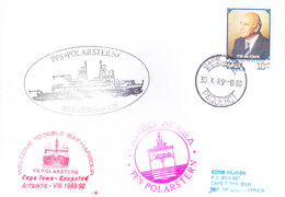 SOUTH AFRICA ANTARCTIC EXPEDITION COVER, 1989 - SPECIAL CANCELLATIONS, PAQUEBOT MARKING - Covers & Documents