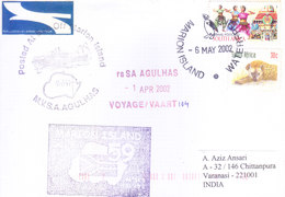SOUTH AFRICA 2002 ANTARCTIC EXPEDITION COVER POSTED FROM MARION ISLAND TO INDIA - SPECIAL CANCELLATIONS - Covers & Documents