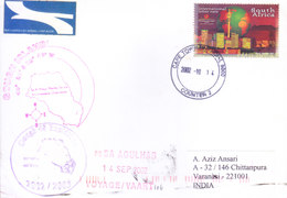 SOUTH AFRICA 2002 ANTARCTIC EXPEDITION COVER POSTED TO INDIA - SPECIAL CANCELLATIONS / GOUGH 48EXPEDITIONS - Covers & Documents