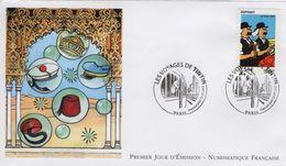 FRANCE 4054 FDC 1er Jour  TINTIN KUIFJE HERGE Paris 2007 Dupondt Janssen Coifffure Bulles - Comics