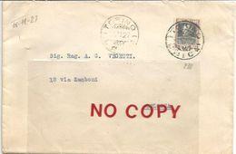 Torino, Lunette 15.11.1927, Su Sassone 218,  Per Bologna. - 1900-44 Victor Emmanuel III