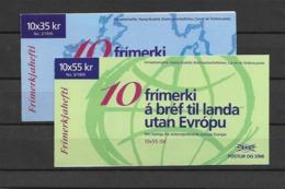 1995 MNH Iceland, Booklet Postfris - Cuadernillos/libretas