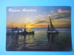 Riviera Adriatica - Controluce - Tramonto Barca E Molo - Controluce