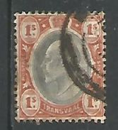 Transvaal Edouard Vll 1s Brun Orange Et Ardoise - Transvaal (1870-1909)