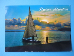 Riviera Adriatica - Controluce - Tramonto Mare E Barca - Controluce