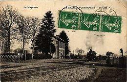 CPA La Mayenne-La Chapelle Craonnaise, La Gare (420579) - Non Classés