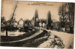 CPA  Le Lot Illustré - Bretenoux - Le Pont Suspendu    (223373) - France