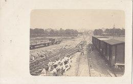 Foto Grodno Hrodna Belarus Weissrussland Zerstörte Eisenbahn-Brücke Wiederaufbau Pioniere Dt.Soldaten 1.Weltkrieg - Belarus