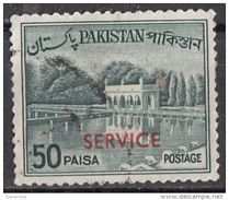 O85 Pakistan 1962 OFFICIAL STAMPS Overprint Surcharged  SERVICE Red Viaggiati Used - Pakistan