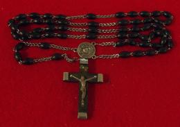 """Religion Ancien Chapelet - Grain En Corne"""" French Horn"""", Chainon Fait à La Main 13 Gr, 49.5 Cm  - 2 Scans - Religion & Esotericism"""