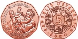 "AUSTRIA 5€ 2.017  ""150 Años De El Vals El Danubio Azul"" Cobre   SC/UNC  T-DL-12.134 - Austria"