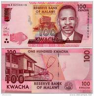 MALAWI       100 Kwacha       P-65[b]      1.1.2016       UNC  [ Sign. Chuka ] - Malawi