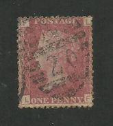 Great Britain - 1864 1d Red - GU - Plate # 221 - Scott # 33 - GB 85 - 1840-1901 (Victoria)