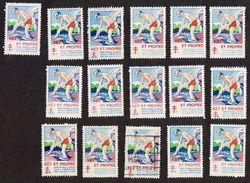53x Stamps - VIGNETTES CONTRE LA TUBERCULOSE - TIMBRES DE FRANCE - Erinnophilie