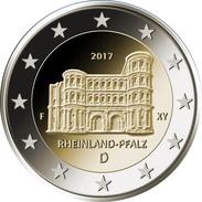 "ALEMANIA / GERMANY  2€ 2.017 Bimetalica ""Estado De Renania-Palatinado (Rheinland-Pfalz)"" A,D,F,G,J  SC/UNC  T-DL-12 - Germany"