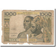 West African States, 1000 Francs, Undated (1959-65), KM:703Kg, AB - West African States