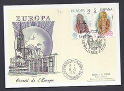 Carte 06.05.1974 ESPAGNE SPANIEN SPAIN ESPANA CONSEIL EUROPE EUROPA PARLAMENT - 1931-Today: 2nd Rep - ... Juan Carlos I