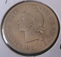 Dominican Republic - 1/2 Peso 1937 VF - Monnaies