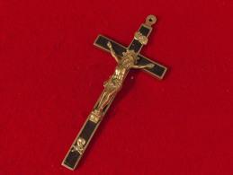 Religion Croix De Chapelet  Ceinture De Religieuse - Crane Et Ossements -  2 Scans 12 X 5.2 X 1 Cm  40 Gr - Religion & Esotérisme