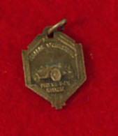 Religion Medaille  Auto Decapotable, St-Christophe Regarde St-Christophe Puis Vas-t-en Rassuré, 2 X 1.4cm , 2 Gr - Religion & Esotericism