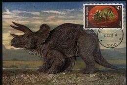 Bulgaria 1990 1 Maximum Maxicard Dinosaurs - Postzegels