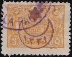 TURKEY - Scott #328 General Post Office, Constantinople 'Overprint'/ Used Stamp - 1858-1921 Ottoman Empire